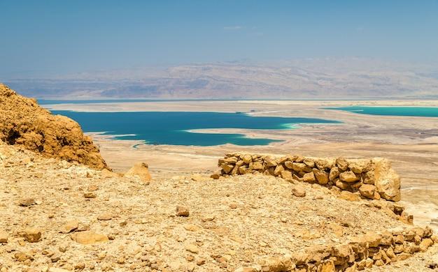 Ruines de la forteresse de massada et de la mer morte - israël