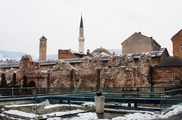 Ruines historiques de taslihan, sarajevo