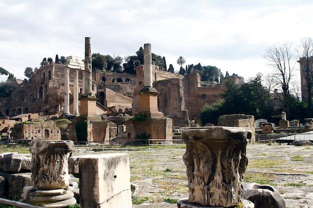 Ruines palatino à rome, italie