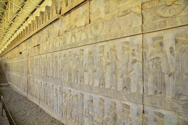 Ruines de persépolis de l'ancien empire en iran