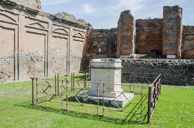 Ruines de pompéi en italie
