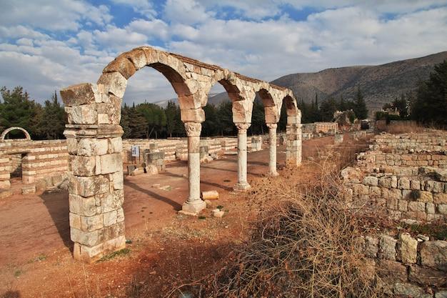 Ruines romaines à anjar, au liban