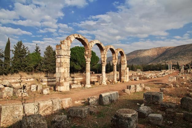 Ruines romaines à anjar, liban