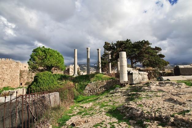 Ruines romaines antiques à byblos, liban