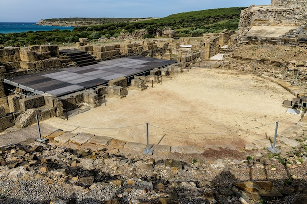 Ruines romaines de baelo claudia situé près de tarifa en espagne