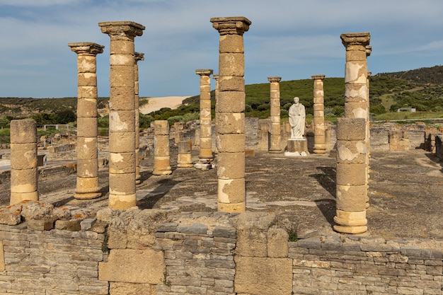 Ruines romaines de baelo claudia, situées près de tarifa. espagne.