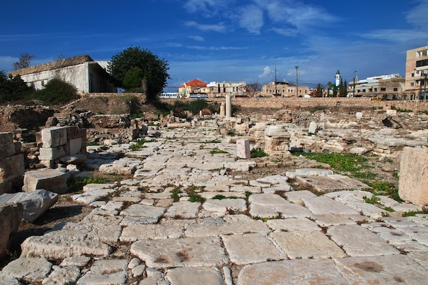 Ruines romaines de tyr (sour), liban