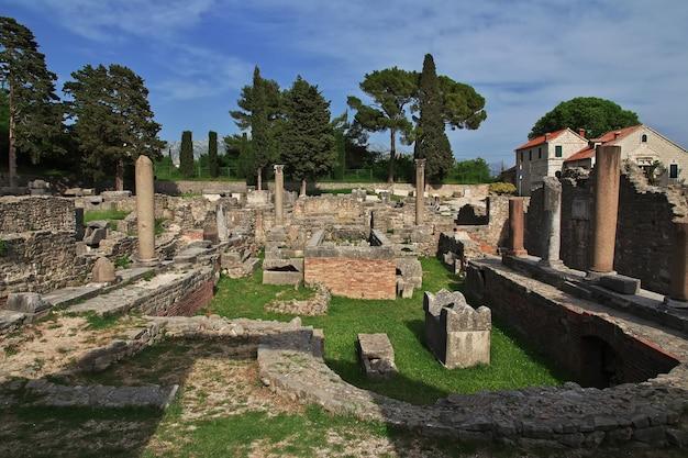 Ruines de salona, solin - ancienne capitale romaine de la dalmatie, split, croatie
