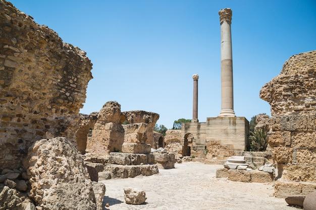 Ruines des thermes d'antonin. carthage, tunisie.