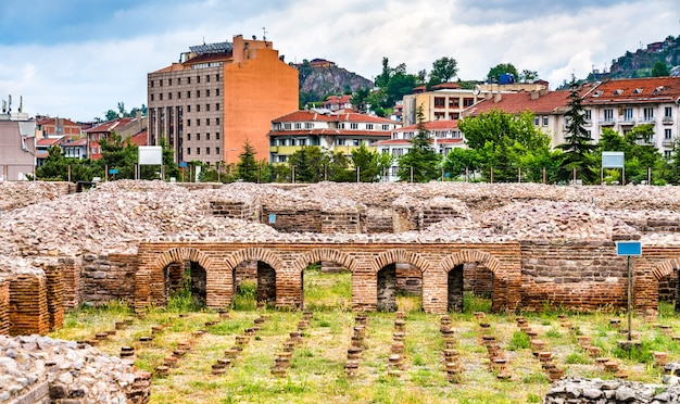 Ruines des thermes romains d'ankara en turquie