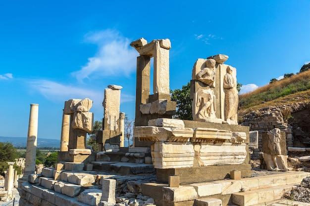 Ruines de la ville antique d'éphèse en turquie