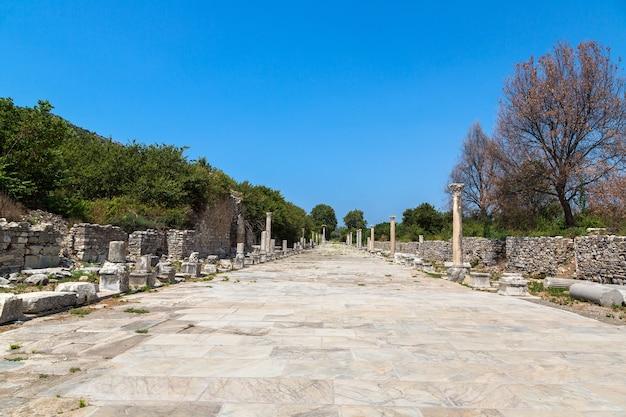 Ruines de la ville antique d'ephèse en turquie