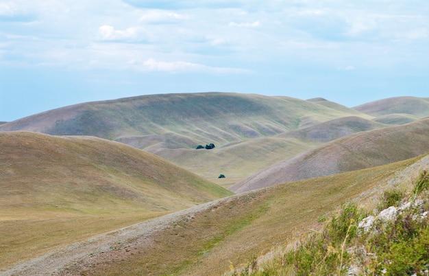 Russie. oural méridional. région d'orenbourg. monts dolgye