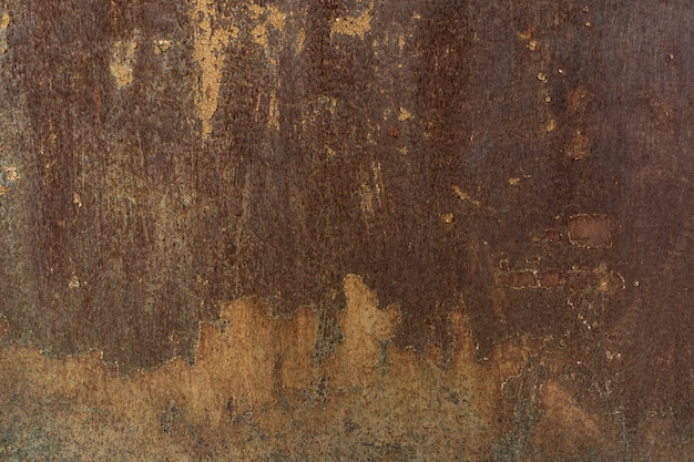 Rust painted grunge metal background ou texture avec des rayures et des fissures