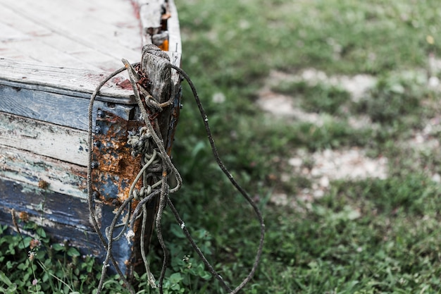 Rusty abandonné bateau en ruine