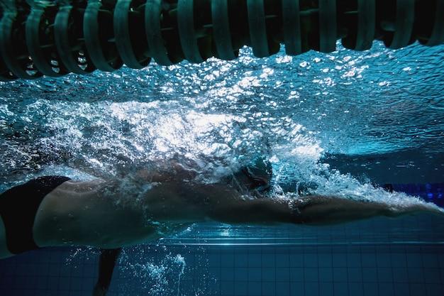 S'entraîner à nager seul