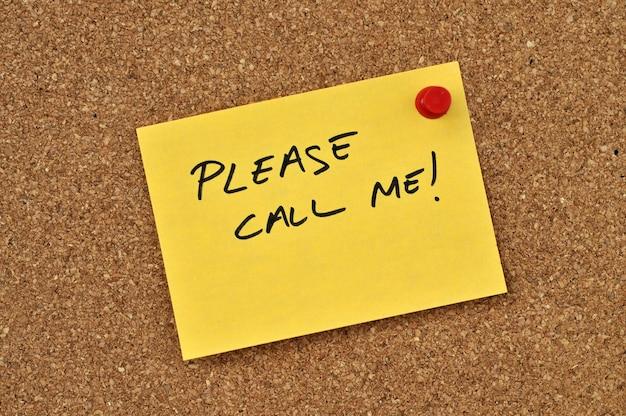 S'il te plait appelle moi