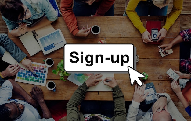S'inscrire s'inscrire connexion membre réseau page concept utilisateur