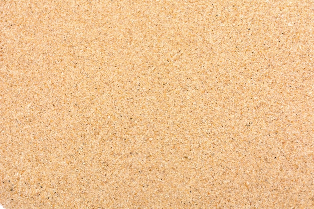 Sable fin de plage texture lisse au soleil d'été