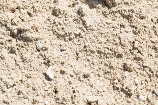 Sable, gravier, cailloux et mélange de béton