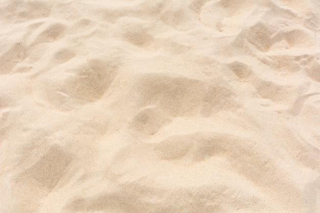 Sable sur la plage lisse texture fond plein cadre