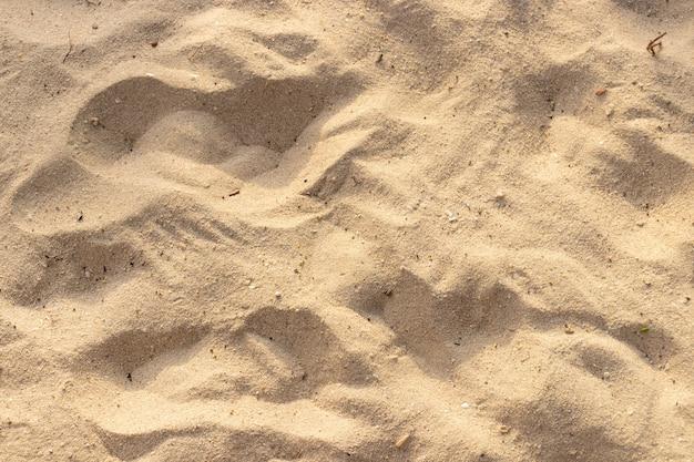 Sable sur la texture de la plage pour le fond de l'été.