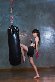 Sac de boxe boxe asiatique sexy