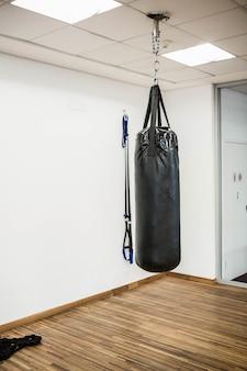 Sac de boxe en studio