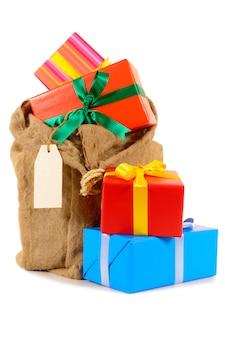 Sac de cadeau de noël ou le stockage