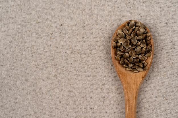 Un sac ou une couverture wale lin chanvre papier peint texture de tissu de toile de sac rustique en naturel