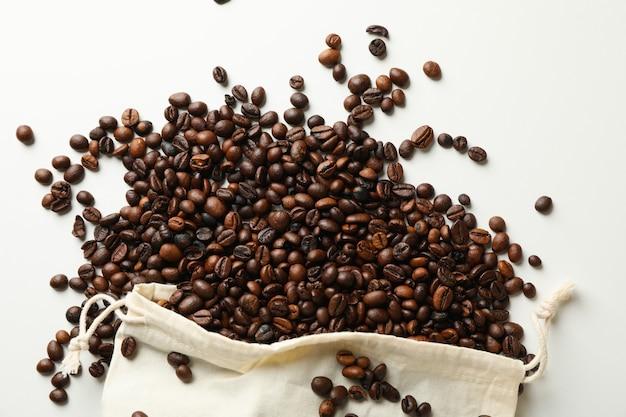 Sac avec graines de café
