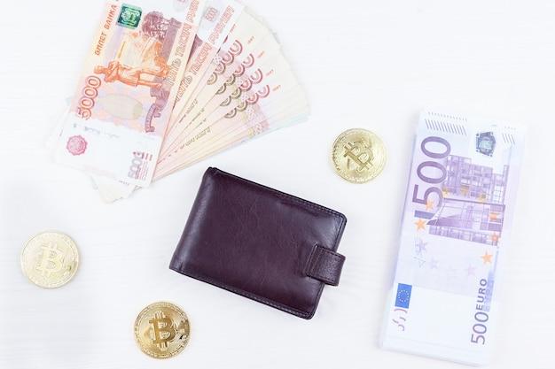 Sac à main avec de l'argent