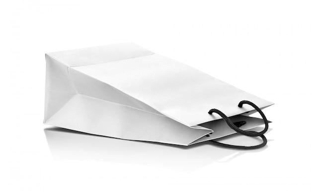 Sac en papier blanc vierge pour maquette de design