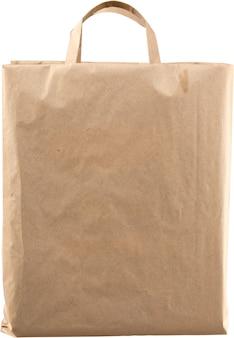 Sac en papier pour faire du shopping isolé sur blanc
