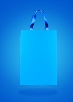 Sac shopping en papier bleu