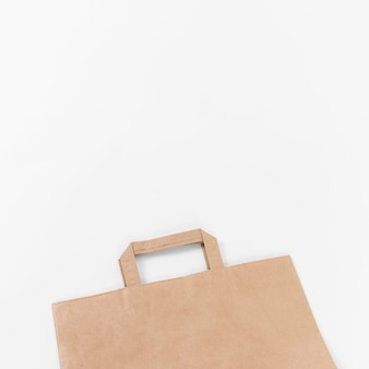 Sac shopping en papier brun high view