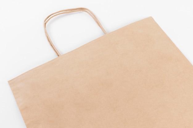 Sac shopping en papier brun avec poignées