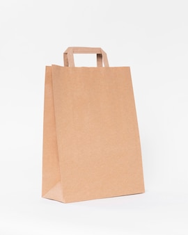 Sac shopping en papier brun