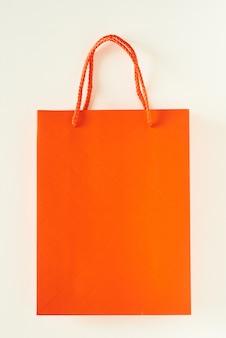 Sac shopping en papier orange vierge