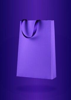 Sac shopping en papier violet
