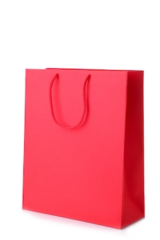 Sac shopping rouge isolé