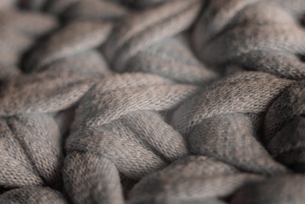 Sac à tricoter coloré à la main