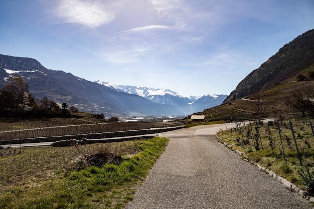 Saillon suisse martigny crevasse château de saillon pierre avoi vignobles au printemps randonnée farinet