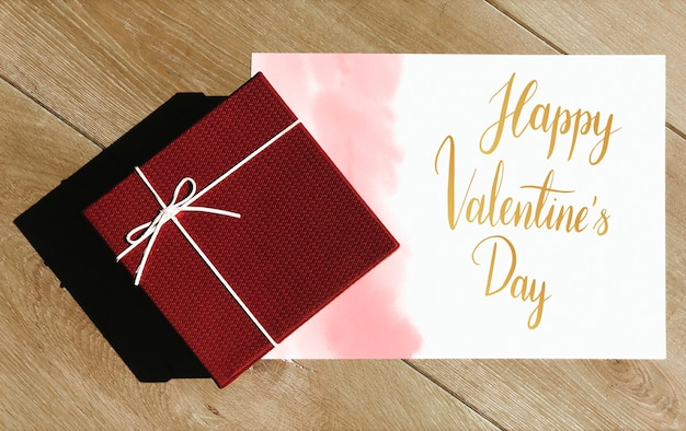 Saint valentin cadeau et carte surprise