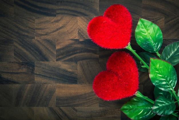 Saint valentin avec des coeurs.