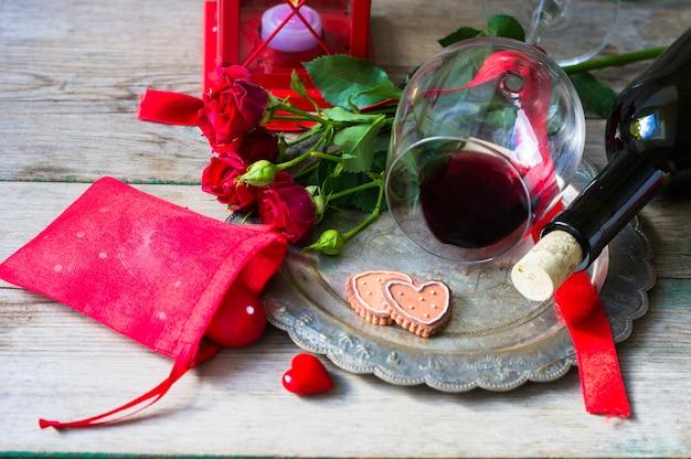 Saint valentin dans un style vintage