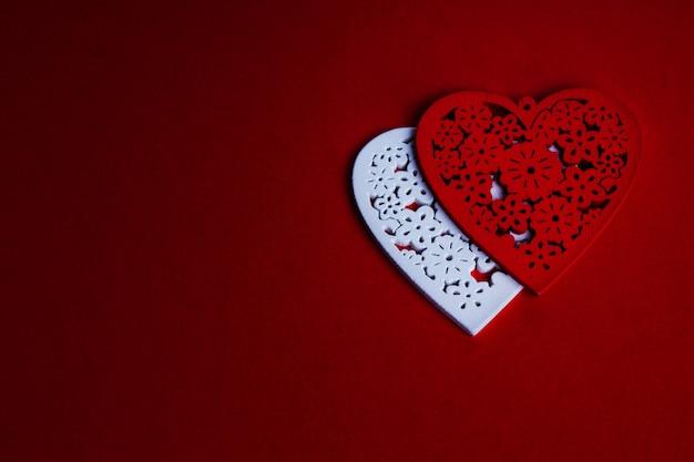Saint valentin rouge avec coeur