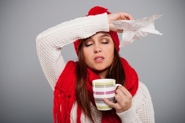 Saison d'hiver pour le rhume et la grippe