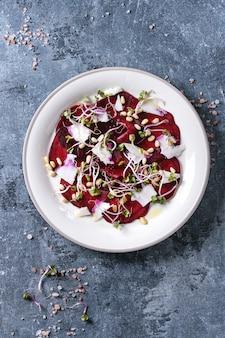 Salade de carpaccio de betterave