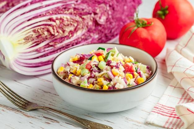 Salade de chou rouge de pékin